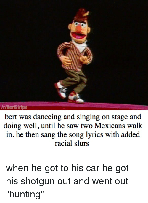 rBertstrips Bert Was Danceing and Singing on Stage and Doing