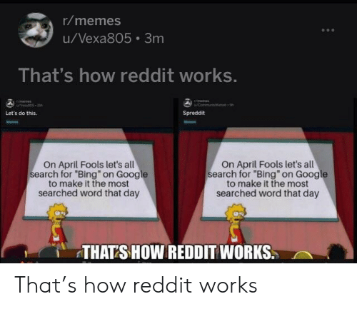 Rmemes uVexa805 3m That's How Reddit Works Let's Do This