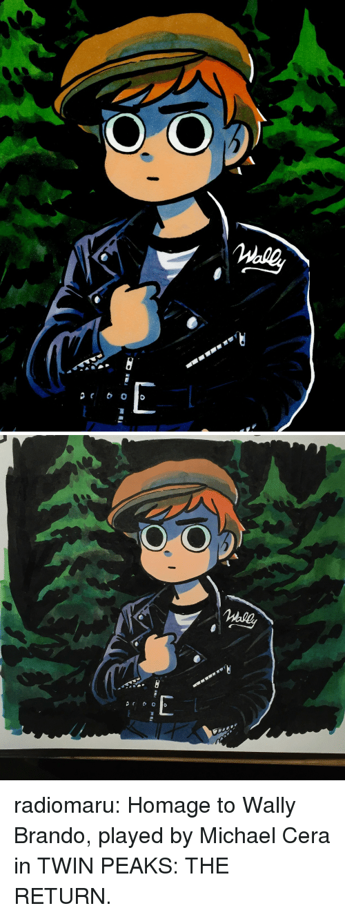 Michael Cera, Target, and Tumblr: radiomaru:  Homage to Wally Brando, played by Michael Cera in TWIN PEAKS: THE RETURN.