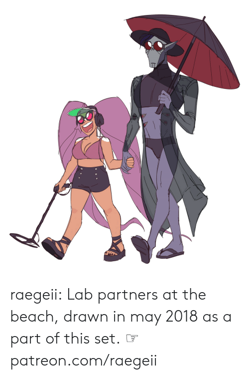 Partners: raegeii:  Lab partners at the beach, drawn in may 2018as a part of this set.  ☞ patreon.com/raegeii
