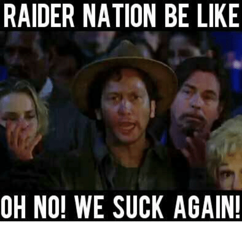 Be Like, Nfl, and Oh No We Suck Again: RAIDER NATION BE LIKE  OH NO! WE SUCK AGAIN
