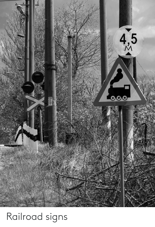 signs: Railroad signs