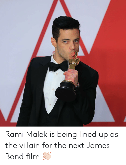 Lined: Rami Malek is being lined up as the villain for the next James Bond film 👏🏻
