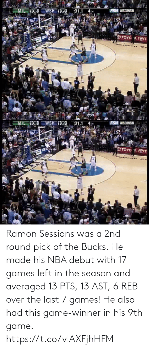 Game Winner: Ramon Sessions was a 2nd round pick of the Bucks. He made his NBA debut with 17 games left in the season and averaged 13 PTS, 13 AST, 6 REB over the last 7 games!   He also had this game-winner in his 9th game. https://t.co/vlAXFjhHFM