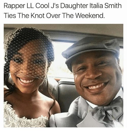 the knot: Rapper LL Cool J's Daughter ltalia Smith  Ties The Knot Over The Weekend.
