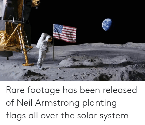 Neil Armstrong: Rare footage has been released of Neil Armstrong planting flags all over the solar system