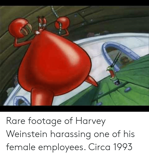 rare footage: Rare footage of Harvey Weinstein harassing one of his female employees. Circa 1993