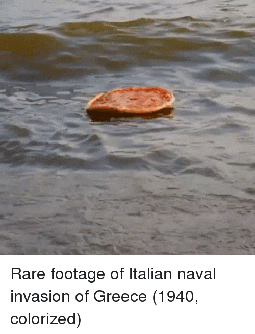 rare footage: Rare footage of Italian naval invasion of Greece (1940, colorized)