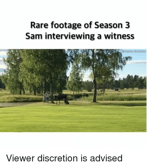 rare footage: Rare footage of Season 3  Sam interviewing a witness Viewer discretion is advised