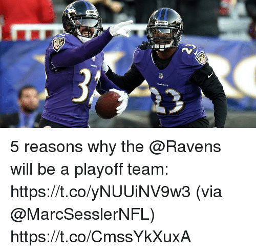 Memes, Ravens, and 🤖: RAVENS 5 reasons why the @Ravens will be a playoff team: https://t.co/yNUUiNV9w3 (via @MarcSesslerNFL) https://t.co/CmssYkXuxA