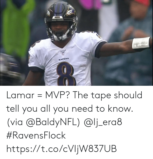 Memes, Ravens, and 🤖: RAVENS Lamar = MVP?   The tape should tell you all you need to know. (via @BaldyNFL) @lj_era8 #RavensFlock https://t.co/cVIjW837UB