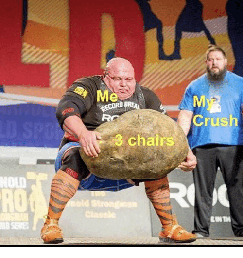 Crush, Record, and Dank Memes: RD BREAN  RECORD  Crush  3 chairs  NOLD  RO  EIN TI