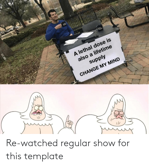 template: Re-watched regular show for this template