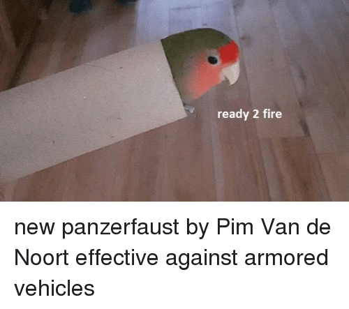 pim: ready 2 fire new panzerfaust by Pim Van de Noort effective against armored vehicles