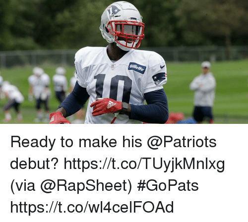 Memes, Patriotic, and 🤖: Ready to make his @Patriots debut? https://t.co/TUyjkMnlxg (via @RapSheet) #GoPats https://t.co/wl4celFOAd