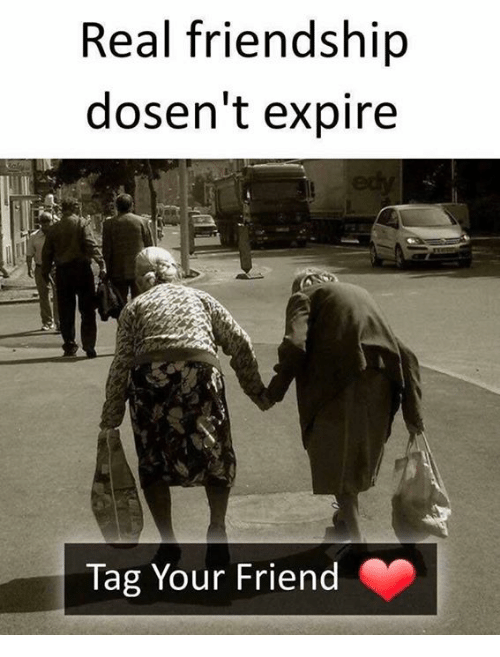Memes, Friendship, and 🤖: Real friendship  dosen't expire  Tag Your Friend