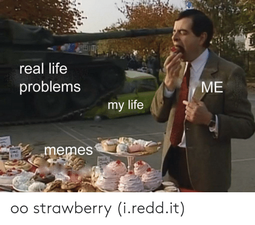 Life Memes: real life  problems  ME  my life  memes oo strawberry (i.redd.it)