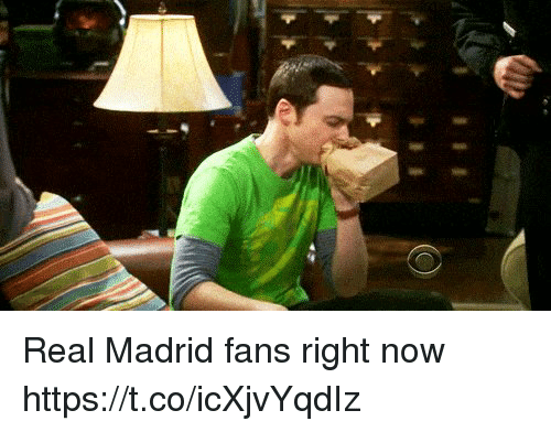 Memes, Real Madrid, and 🤖: Real Madrid fans right now https://t.co/icXjvYqdIz