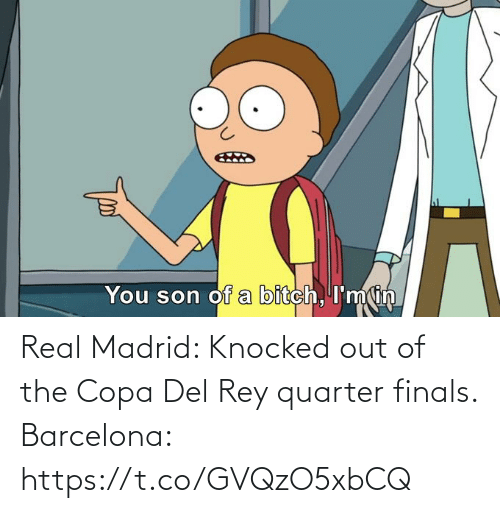 madrid: Real Madrid: Knocked out of the Copa Del Rey quarter finals.  Barcelona: https://t.co/GVQzO5xbCQ
