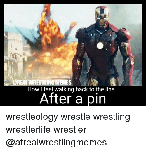 Wrestling Memes: REAL WRESTLING MEMES  How I feel walking back to the line  After a pin wrestleology wrestle wrestling wrestlerlife wrestler @atrealwrestlingmemes
