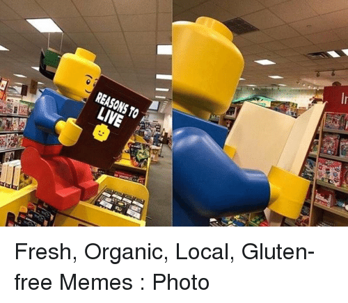 Fresh, Memes, and Free: REASONS TO  LIVE Fresh, Organic, Local, Gluten-free Memes : Photo