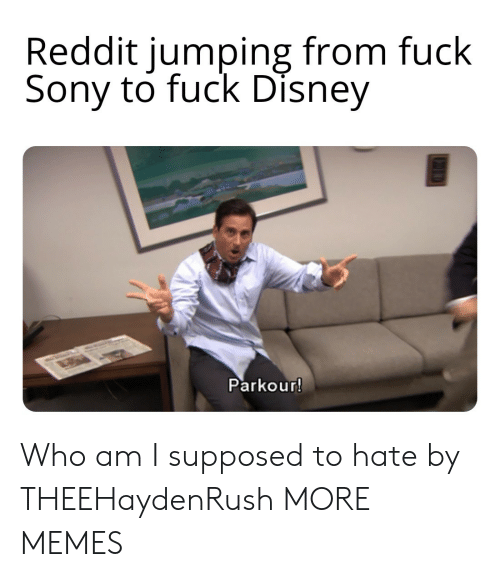 Parkour: Reddit jumping from fuck  Sony to fuck Disney  Parkour! Who am I supposed to hate by THEEHaydenRush MORE MEMES