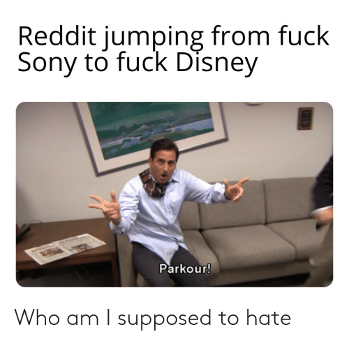 Parkour: Reddit jumping from fuck  Sony to fuck Disney  Parkour! Who am I supposed to hate