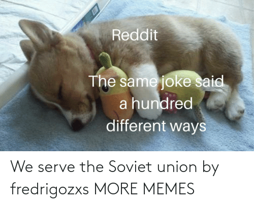 Soviet: Reddit  The same joke said  a hundred  different ways We serve the Soviet union by fredrigozxs MORE MEMES