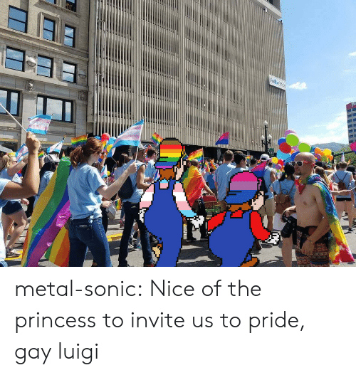 Target, Tumblr, and Blog: redkxCfice metal-sonic: Nice of the princess to invite us to pride, gay luigi