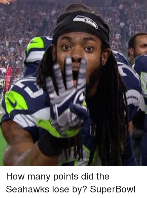 Nfl, Seahawks, and Superbowl: Reel  Ann How many points did the Seahawks lose by? SuperBowl