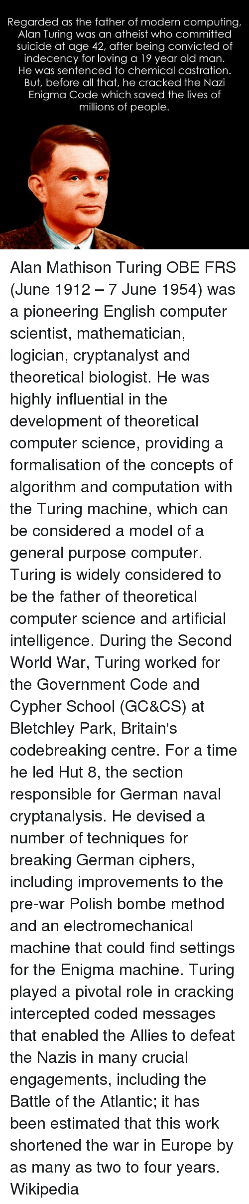 alan turing the father of modern