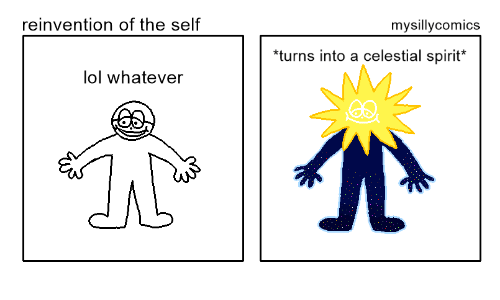 Lol, Spirit, and Celestial: reinvention of the self  mysillycomics  turns into a  celestial spirit  lol whatever