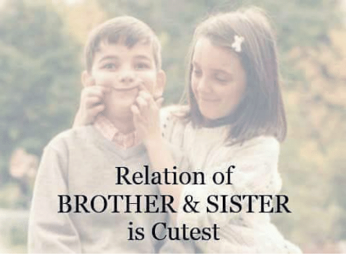 Relation Of Brother Sister Is Cutest Meme On Esmemescom