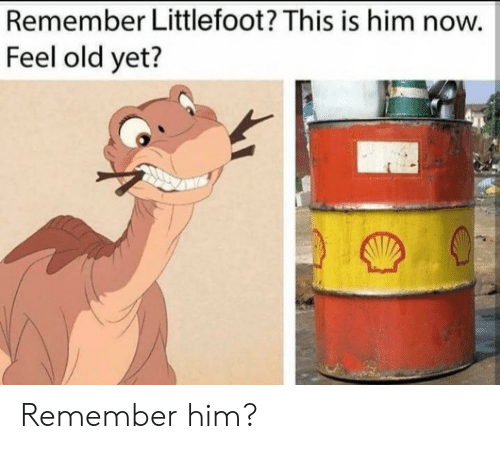Feel Old Yet: Remember Littlefoot? This is him now.  Feel old yet? Remember him?