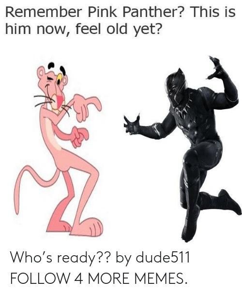 Now Feel: Remember Pink Panther? This is  him now, feel old yet? Who's ready?? by dude511 FOLLOW 4 MORE MEMES.