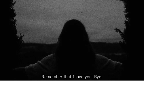 Love, I Love You, and Remember: Remember that I love you. B  ye