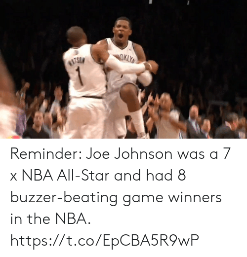 Winners: Reminder: Joe Johnson was a 7 x NBA All-Star and had 8 buzzer-beating game winners in the NBA.   https://t.co/EpCBA5R9wP
