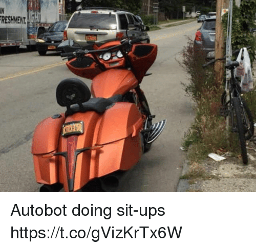 Ups, Faces-In-Things, and Autobot: RESHMENT Autobot doing sit-ups https://t.co/gVizKrTx6W