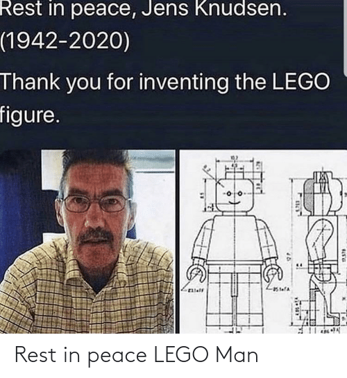 rest: Rest in peace LEGO Man
