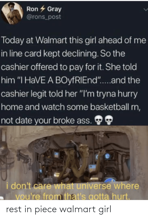 Walmart, Girl, and Rest: rest in piece walmart girl