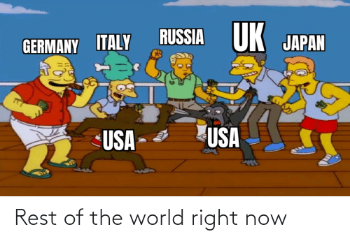 the world: Rest of the world right now