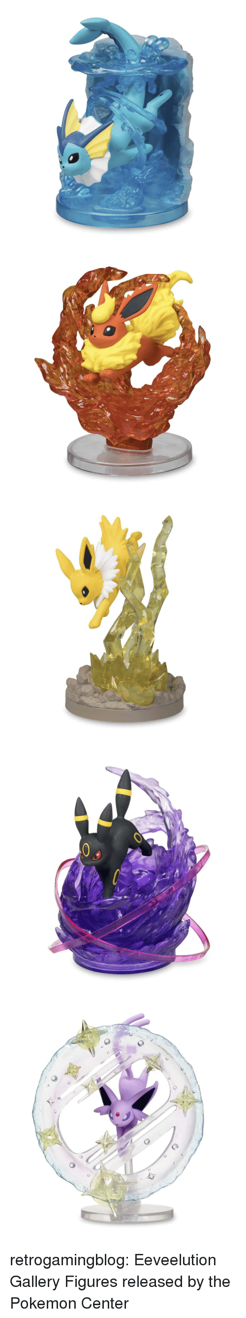 the pokemon: retrogamingblog:  Eeveelution Gallery Figures released by the Pokemon Center