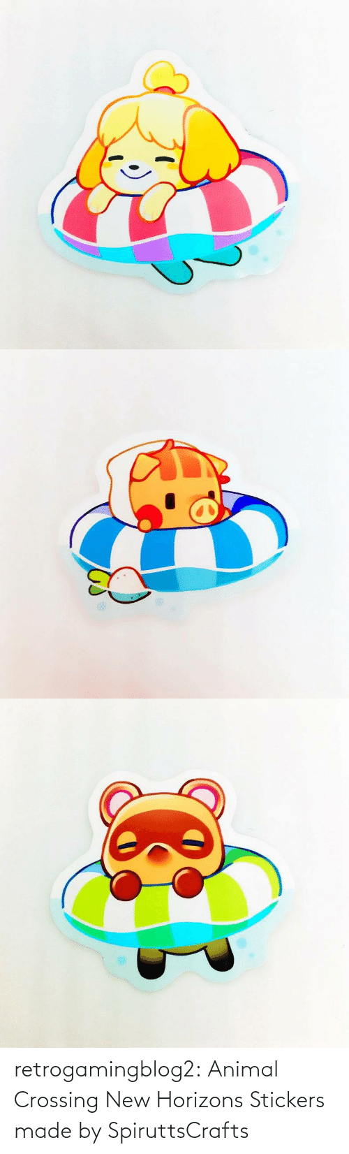 Deviantart: retrogamingblog2:  Animal Crossing New Horizons Stickers made by SpiruttsCrafts