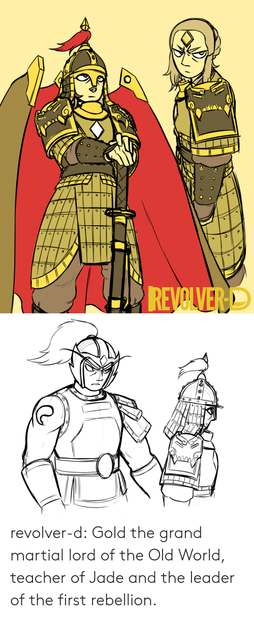 Teacher, Tumblr, and Blog: REVOLVERD revolver-d:  Gold the grand martial lord of the Old World, teacher of Jade and the leader of the first rebellion.