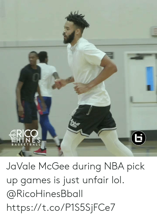 rico: RICO  HINES  BASKETBALL  (r JaVale McGee during NBA pick up games is just unfair lol. @RicoHinesBball https://t.co/P1S5SjFCe7