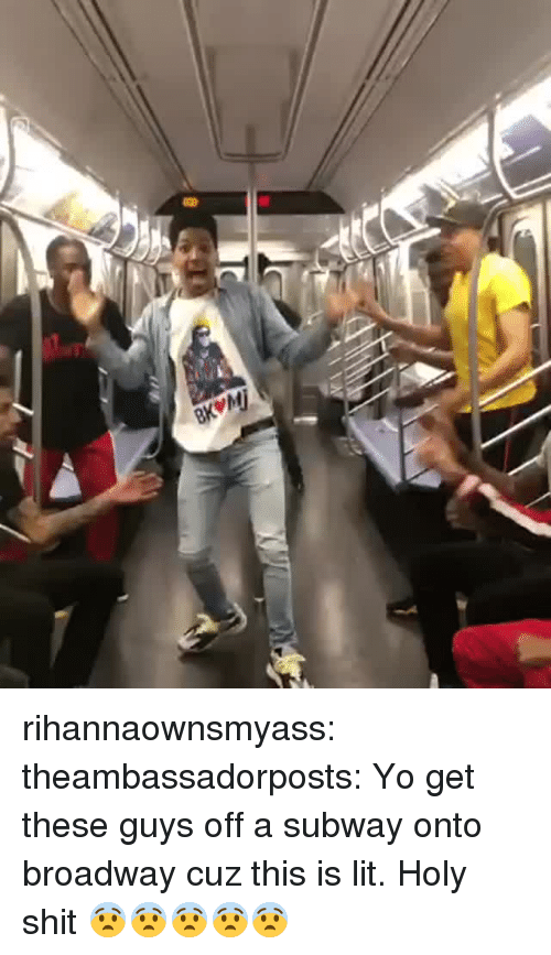 Gif, Lit, and Shit: rihannaownsmyass:  theambassadorposts:    Yo get these guys off a subway  onto broadway cuz this is lit.   Holy shit 😨😨😨😨😨