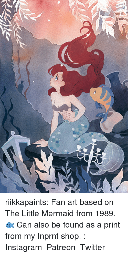 the little mermaid: riikkapaints: Fan art based on The Little Mermaid from 1989.🐟 Can also be found as a print from my Inprnt shop.: Instagram ◆ Patreon ◆ Twitter
