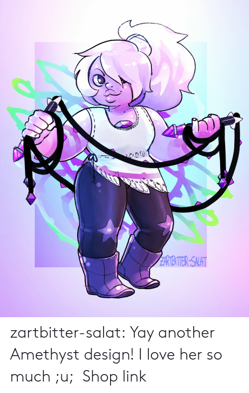 Redbubble: RIITER-SALAT zartbitter-salat:  Yay another Amethyst design! I love her so much ;u; Shop link