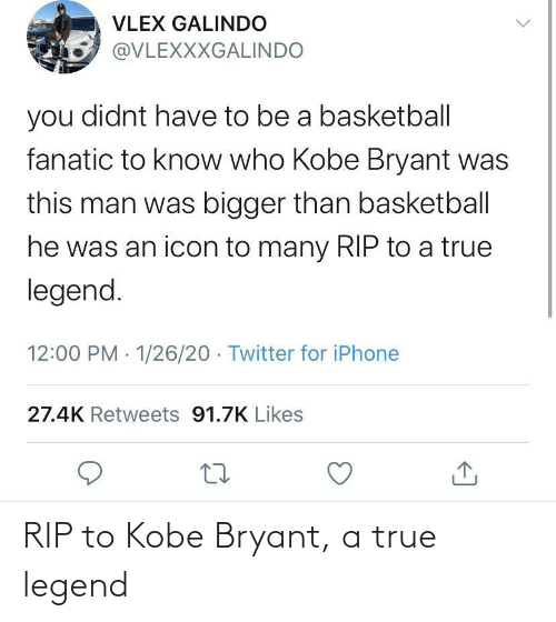 Kobe Bryant: RIP to Kobe Bryant, a true legend