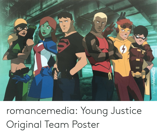 Justice: romancemedia: Young Justice Original Team Poster